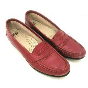 SAS Red Walking Penny Loafers Tripad Comfort